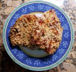 Pork Chop schnitzel ready to eat.