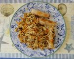 Chicken Fried Rice with Egg Roll