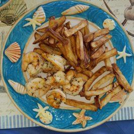 Lemon Basil Shrimp with Fries