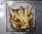 Herb potatoes fries cut up