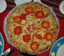 pizza with almond crust